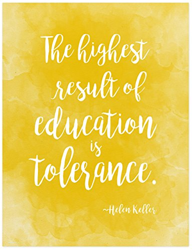 Helen Keller Diversity Quote Poster For Classroom, Library,
