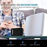 Mpow Bluetooth 4.1 Transmitter/Receiver,with 3.5mm Audio Cable/RCA Cables Connected to TV & Paired with 2 Bluetooth Headphones At Once in TX Mode,Enjoy Stereo Music & Hands-free Calling in RX Mode