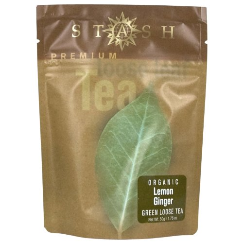 Stash Tea Organic Lemon Ginger Green Loose Leaf Tea 1.75 Ounce Pouch (Pack of 3) Loose Leaf Premium Green Tea for Use with Infusers Tea Strainers or Teapots, Drink Hot or Iced, Sweetened or Plain by Stash Tea