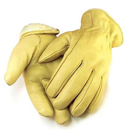 Northstar Mens Full Grain Tan Deerskin Gloves Lined 40 gram 3M Thinsulate 013T
