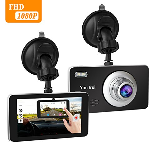 Dash Cam 4'' Touch Screen 1080P HD Car Camera 170° Wide Angle Dashboard Camera with Rear View Cam G-Sensor. Motion Detection, Loop Recording Camera Recorder by Ananteke
