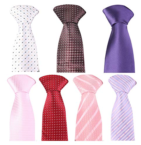 Elegant Set - Set of 7 Elegant Neck Ties By Mens Collections - Multiple Sets to Chose From (Set-28)