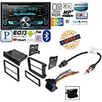 VOLKSWAGEN 2008 - 2011 GLI CAR RADIO STEREO CD PLAYER DASH INSTALL MOUNTING KIT HARNESS W/ Kenwood DPX502BT Double-Din CD Receiver with USB Interface & Bluetooth