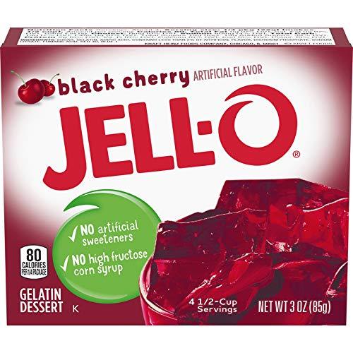 Jell-O Gelatin Dessert Black Cherry (Pack of 6)