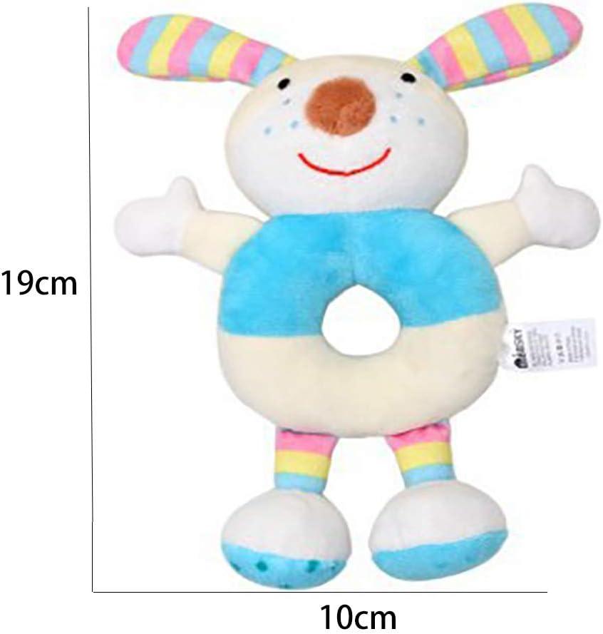 Newborn Baby Soft Rattles Cartoon Stuffed Animal Hand Rattle Ring Plush Toys S