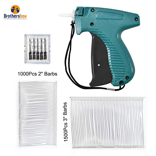 Brothersbox Price Tag Gun Clothes Tagging Gun Comfort Grip Standard Tagging Gun Kit Includes 2500 Attachments (2