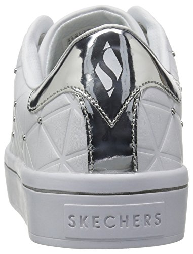 Silver White Hi Women Skechers Street Bermuda Lite XYW6q