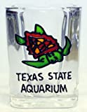 Square Texas State Aquarium 2oz Clear Glass Promotional Tourist Shot Glass offers