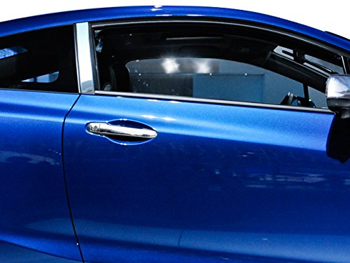 QAA FITS Civic 2012-2015 Honda (2 Pc: Stainless Steel Pillar Post Trim Kit, 2-Door Coupe) PP12212