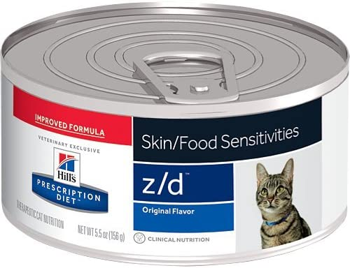 Hill s Prescription Diet z d Original Skin Food Sensitivities Canned Cat Food 24 5.5 oz