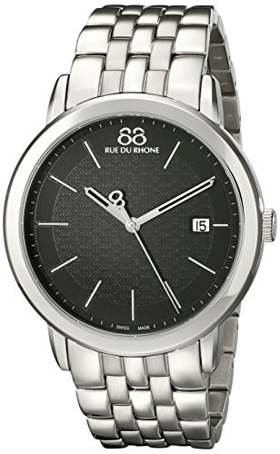 88-Rue-du-Rhone-Mens-87WA140001-Double-8-Origin-Analog-Display-Swiss-Quartz-Silver-Watch