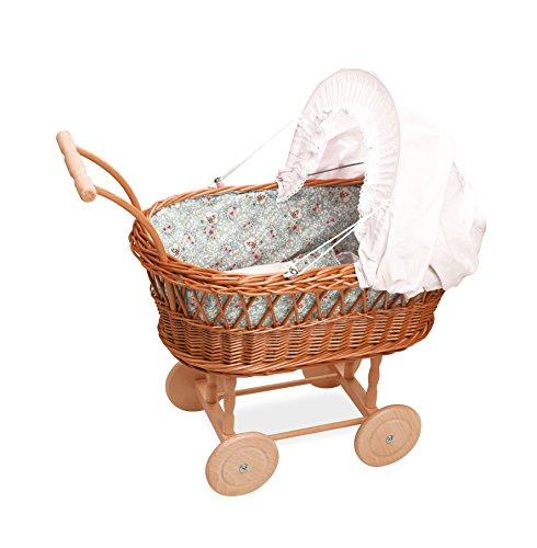 Petitcollin Petitcollin800100 Doll Wicker Pram ()