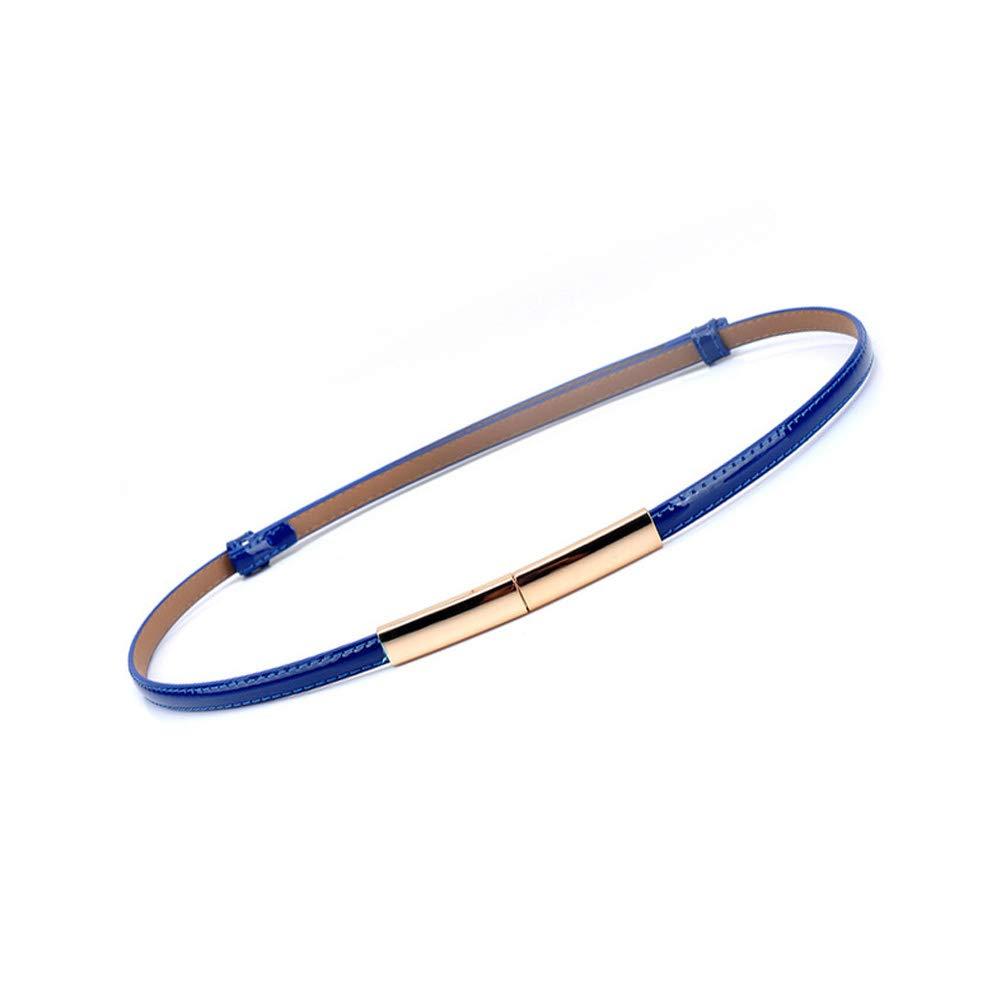 Rojeam Cintura donna in pelle sottile Cintura dorata con fibbia in oro