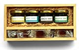 THE HONEY SHOP - Honey Bliss Gift Hamper - Natural & Unique, Packed in Hand Crafted Pine Wood Box (Pack of 1)