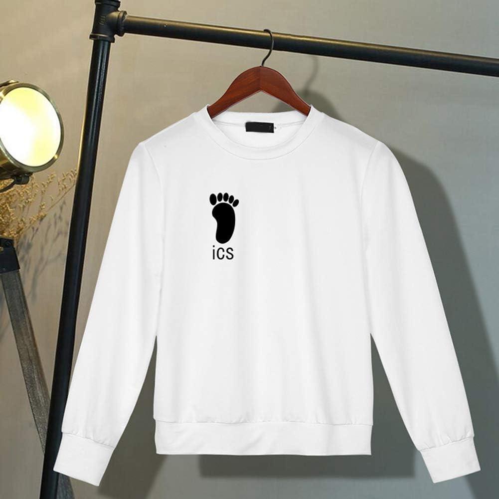 Fistyle Mens Anime Haikyuu Print Sweatshirt Fashion Double Print Pullover Sweatshirt Tops