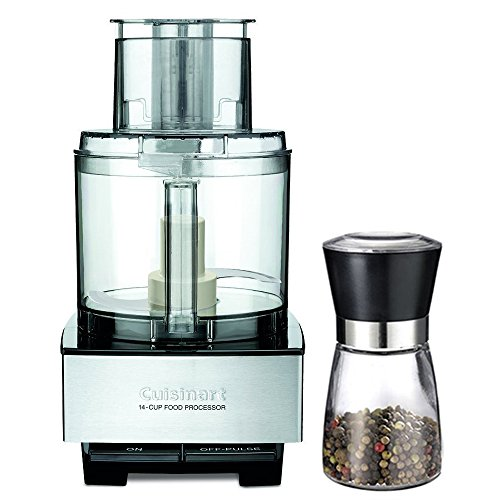 Food Mill Food Processor - Cuisinart 14-Cup Food Processor, Brushed Stainless Steel (DFP-14BCNY) with Deco Gear Spice Mill