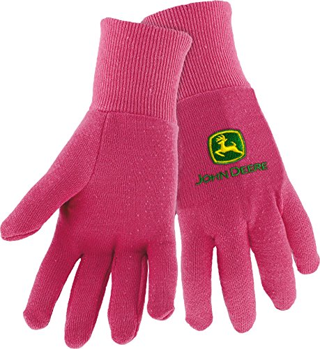West Chester John Deere JD90003 Knit Polyester/Cotton Insulated Jersey Work Gloves: Pink, Women