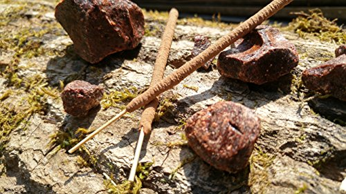 Dragon's Blood Incense - Real Dragonsblood Resin - 12 All Natural, Hand Rolled Herbal Incense Sticks