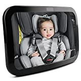 LotFancy Baby Car Mirror-Back Seat Mirror for Rear-Facing Infant Shatterproof Non-Glass, 360° Adjustable View