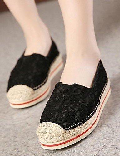 Zapatos Uk3 Punta Mocasines us8 Zq De Uk6 5 Black Casual White us5 Plano Mujer Negro 5 Blanco Redonda Tejido Eu39 Cn35 Tacón Eu36 Cn39 p0qwA4d1w