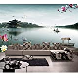 Custom 3D Photo Wallpaper Living Room Mural West Lake Pavilion Picture Photo Sofa TV Background Non-Woven Wallpaper for Wall 3D