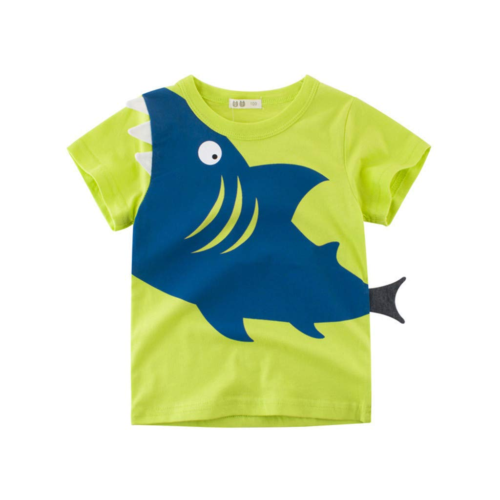 Kids Baby Boys Tops T-Shirt,for 1-6 Years Old,Children Kids Baby Girls Boys Cartoon Shark Dinosaur Animal Print T-Shirt Tee Tops Clothes Outfits Pajamas Boys Summer Clothes