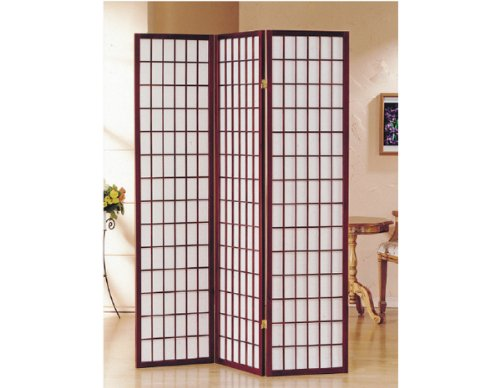 3 - 10 Panel Room Divider Square Design Cherry (3 Panel)
