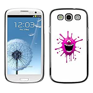 LECELL -- Funda protectora / Cubierta / Piel For Samsung Galaxy S3 I9300 -- Funny Pink Monster --
