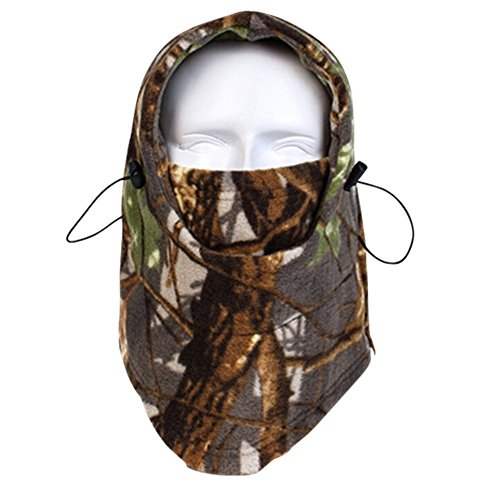 Balaclava Outdoor Sports Mask, Fleece Heavyweight Balaclava Face Mask for Snowboard Snowmobile Ski Camping Hunting and Other Winter Activities Camo Forest