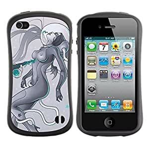 fashion Case for Apple iPhone 5s for kids / Sci-Fi Future Art