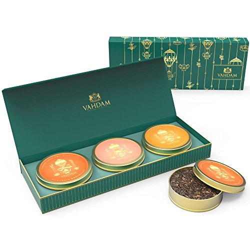 VAHDAM-Private-Reserve-Tea-Gift-Set-3-TEAS-Original-Masala-Chai-Tea-Organic-Green-Tea-Leaves-Maharaja-Breakfast-Black-Tea-Luxury-Tea-Gift-Box-Packed-in-a-Gift-Tin-Beautiful-Gift-Box