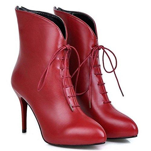 Back Zipper KemeKiss Boots Red Women E0ZqZUxnwY