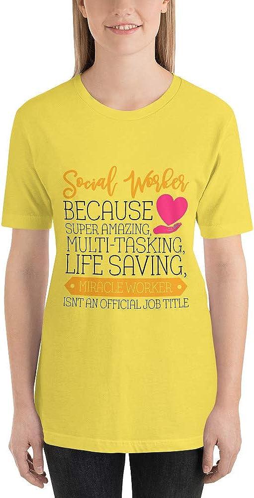 Social Work T-Shirt Social Worker is a Miracle Work UnicornPixel Social Worker Gift
