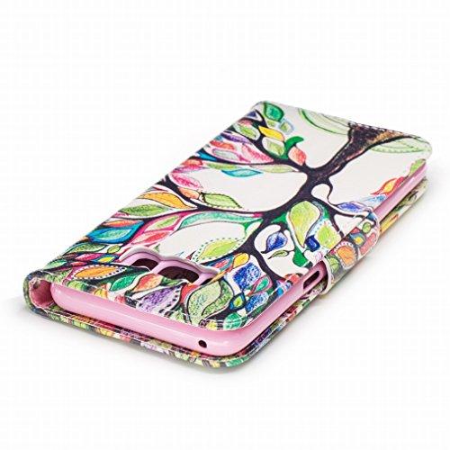 Flip Pelle Samsung Magnetico Silicone Custodia Bumper Morbido Custodia S8 LEMORRY Protettivo Cuoio Galaxy S8 Galaxy TPU Portafoglio Albero Cover Borsa Chiusura per Fortunato Sottile 4Icdq4p0Zn