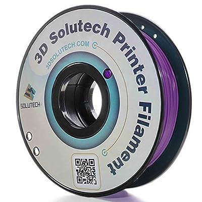 3D Solutech Real Purple 1.75mm ABS 3D Printer Filament 2.2 LBS (1.0KG) - 100% USA