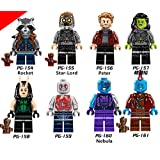 Guardians of the Galaxy Rocket Lego Minifigure 8 Set Action Figures Collectables (8 Pieces) Series Building Blocks with Lego