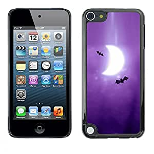 Paccase / SLIM PC / Aliminium Casa Carcasa Funda Case Cover para - Popular Bats Art Drawing Purple Moon Crescent - Apple iPod Touch 5