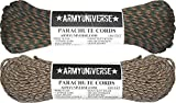 Army Universe Woodland & Desert Camo 550LB US Paracord Value Pack - 200 Feet!