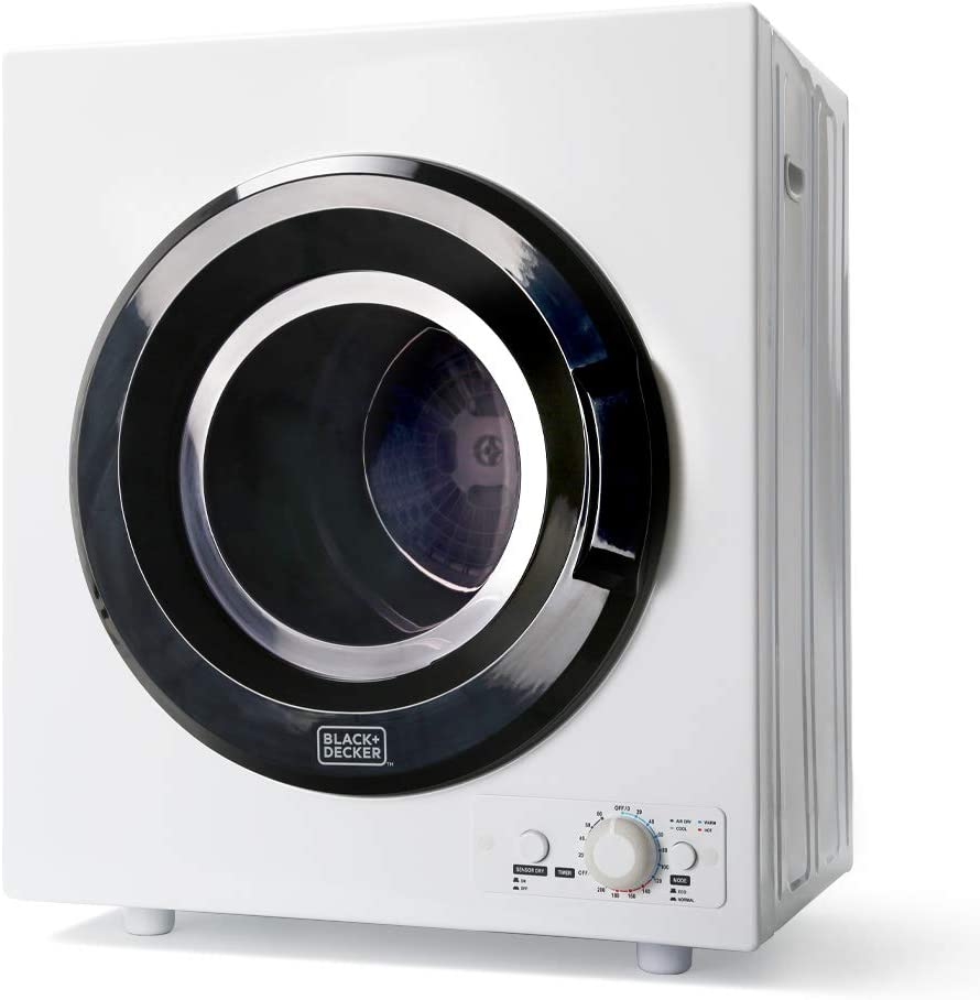 BLACK+DECKER BCED26 Portable Dryer, Small, White