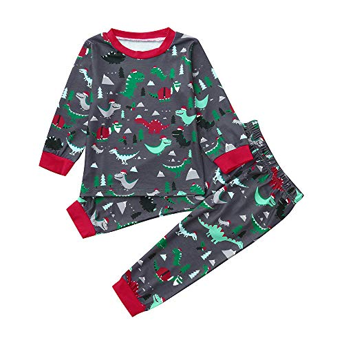 Little Boy Dinosaur Pajamas Sets,Jchen(TM) Infant Baby Kids Little Boys Dinosaur Print Long Sleeve Tops Pants Homewear Sleepwear Outfits for 1-5 Y (Age: 18-24 Months) by Jchen Baby Sets
