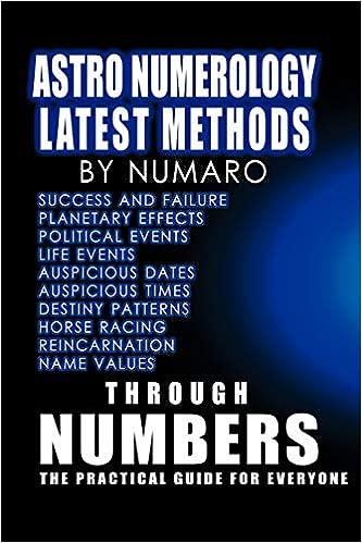 Astro Numerology: Latest Methods: Numaro: 9781412094405