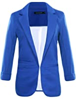 Bestgift Damen Blazer Candy Farben Anzug Lose Trenchcoat Office Kurz Jacke