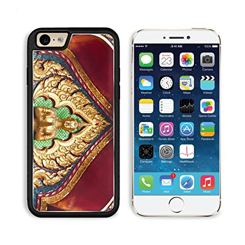 Liili Premium Apple iPhone 6 iPhone 6S Aluminum Backplate Bumper Snap Case iPhone6 IMAGE ID: 20229736 Thai Traditional Painting Glass on Temple arch door