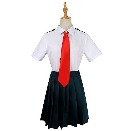 ZY Juego De Anime Disfrazado Camisa Blanca Falda Anime Halloween ...