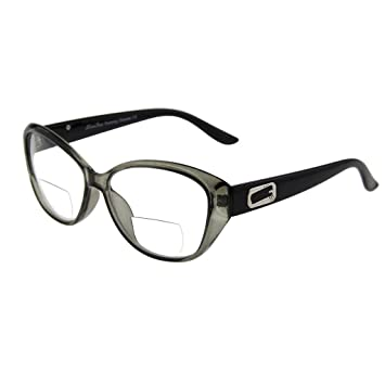 6ac3dce9f3a5 Image Unavailable. Image not available for. Color  LianSan Brand Designer  Cat Eye Women Men Bifocal Readers Reading Glasses L3707(green ...