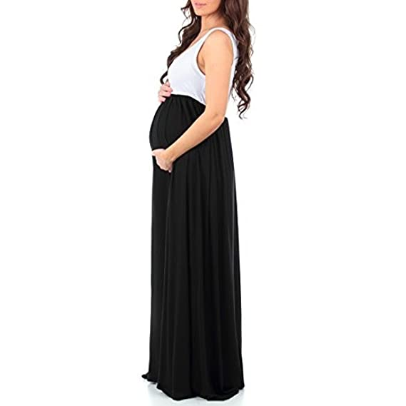 Pregnant Dress, Duseedik Women Sleeveless Ruched Maternity Dress Mother Splice Sun Dress Summer Dress 2018 at Amazon Womens Clothing store: