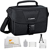 Canon EOS 100ES Bag (Black) + 9PC Cleaning kit for Canon EOS 7D, 60D, 60Da, 70D, EOS Rebel SL1, T1i, T2i, T3, T3i, T4i, T5, T5i, XS, XSi, XT, & XTi Digital SLR Cameras Basic Facts Review Image