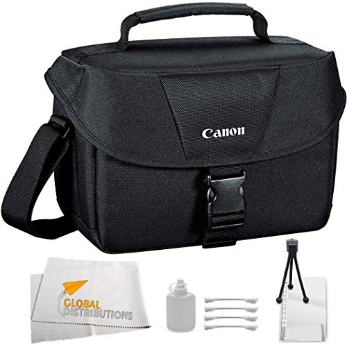 Canon EOS 100ES Bag (Black) + 9PC Cleaning kit for Canon EOS 7D, 60D, 60Da, 70D, EOS Rebel SL1, T1i, T2i, T3, T3i, T4i, T5, T5i, XS, XSi, XT, & XTi Digital SLR Cameras by Canon