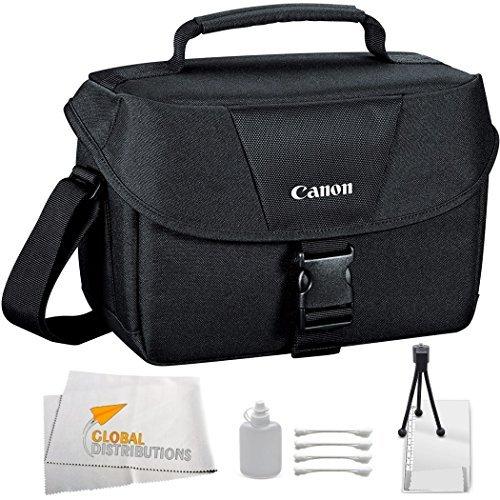 Canon Rebel Xt Camera Bag (Canon EOS 100ES Bag (Black) + 9PC Cleaning kit for Canon EOS 7D, 60D, 60Da, 70D, EOS Rebel SL1, T1i, T2i, T3, T3i, T4i, T5, T5i, XS, XSi, XT, & XTi Digital SLR Cameras)