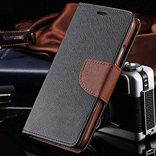Qlez Matte Finish Flip Cover with Media Stand Feature for Motorola Moto X Play  Brown